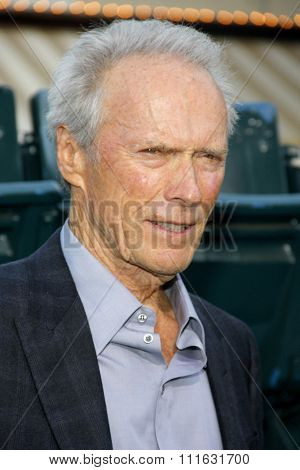 LOS ANGELES, CALIFORNIA - September 19, 2012. Clint Eastwood at the Los Angeles premiere of 'Trouble With The Curve' held at the Mann's Village Theatre, Los Angeles.