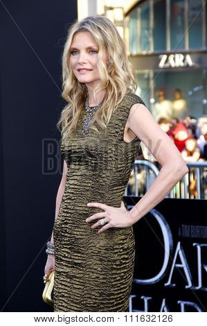Michelle Pfeiffer at the Los Angeles premiere of 'Dark Shadows' held at the Grauman's Chinese Theater in Hollywood, USA on May 7, 2012.