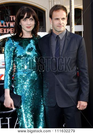 Michele Hicks and Jonny Lee Miller at the Los Angeles premiere of 'Dark Shadows' held at the Grauman's Chinese Theater in Hollywood, USA on May 7, 2012.