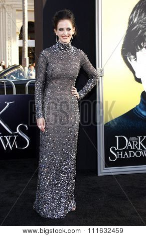 Eva Green at the Los Angeles premiere of 'Dark Shadows' held at the Grauman's Chinese Theater in Hollywood, USA on May 7, 2012.