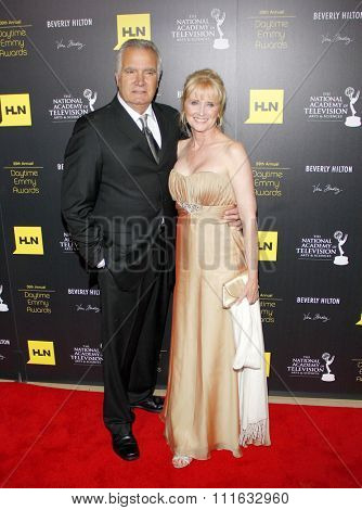 John McCook and Laurette Spang-McCook at the 39th Annual Daytime Emmy Awards held at the Beverly Hilton Hotel in Beverly Hills, USA on June 23, 2012.