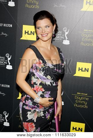 Heather Tom at the 39th Annual Daytime Emmy Awards held at the Beverly Hilton Hotel in Beverly Hills, USA on June 23, 2012.