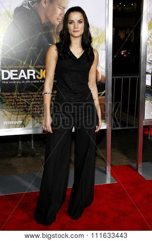 HOLLYWOOD, CALIFORNIA - February 1, 2010. Jaimie Alexander at the World premiere of