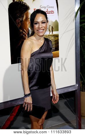 BEVERLY HILLS, CALIFORNIA - November 15, 2011. Kaui Hart Hemmings at the Los Angeles Premiere of