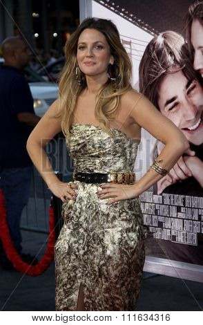 HOLLYWOOD, CALIFORNIA - August 23, 2010. Drew Barrymore at the Los Angeles premiere of