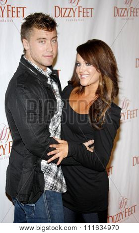 HOLLYWOOD, CALIFORNIA - November 29, 2009. Lance Bass and Lacey Schwimmer at the Dizzy Feet Foundation's Celebration of Dance held at the Kodak Theater, Hollywood.