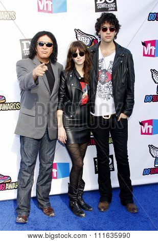 Gene Simmons and Nick Simmons at the 2011 VH1 Do Something Awards held at the Palladium Hollywood in Los Angeles, California, United States on August 14, 2011.