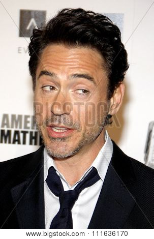 Robert Downey Jr. at the 25th American Cinematheque Award Honoring Robert Downey Jr. held at the Beverly Hilton hotel in Beverly Hills, California, United States on October 14, 2011.