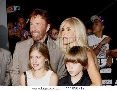 Chuck Norris at the Los Angeles premiere of