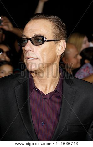 Jean-Claude Van Damme at the Los Angeles premiere of