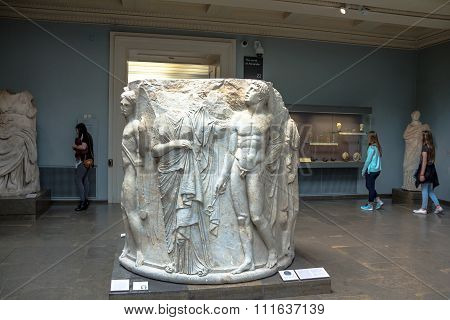 Marble Column Drum Carved In High Relief, From The Second Temple Of Artemis At Ephesus