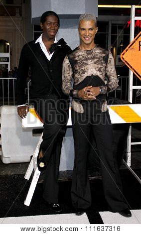 HOLLYWOOD, CALIFORNIA - October 28, 2010. J. Alexander and Jay Manuel at the Los Angeles premiere of