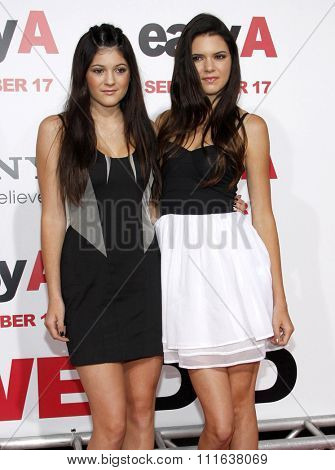Kylie Jenner and Kendall Jenner at the Los Angeles Premiere of