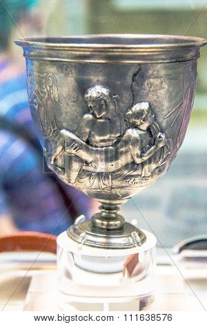 Roman Warren Silver Cup, Made About Bc 15 - Ad 15, British Museum. London