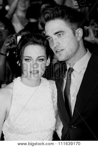 Kristen Stewart and Robert Pattinson at