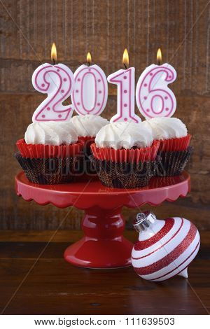 Happy New Year 2016 Cupcakes