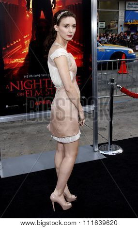 HOLLYWOOD, CALIFORNIA - April 27, 2010. Rooney Mara at the World premiere of