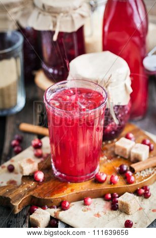 Glass Of Homemade Cranberry Juice