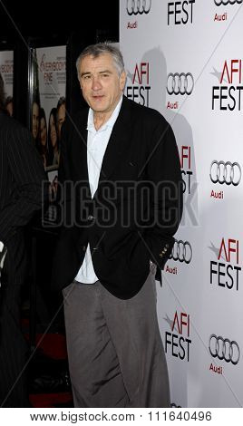 HOLLYWOOD, CALIFORNIA - November 3, 2009. Robert De Niro at the AFI FEST 2009 Screening of