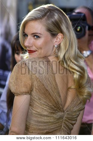 HOLLYWOOD, CALIFORNIA - August 6, 2009. Sienna Miller at the Los Angeles premiere of