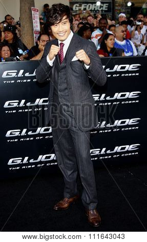 HOLLYWOOD, CALIFORNIA - August 6, 2009. Byung-hun Lee at the Los Angeles premiere of