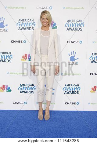 LOS ANGELES, CALIFORNIA - December 7, 2012. Jenna Elfman at the 2nd Annual American Giving Awards held at the Pasadena Civic Auditorium in Los Angeles.
