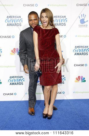 Maria Menounos and Anthony Anderson at the 2nd Annual American Giving Awards held at the NPasadena Civic Auditorium in Los Angeles, California, United States on December 7, 2012.