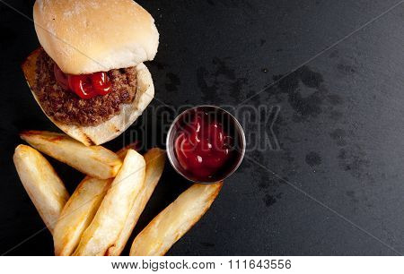 Organic Burger With Fries
