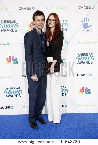 Torrance Coombs and Alyssa Campanella at the 2nd Annual American Giving Awards held at the Pasadena Civic Auditorium in Los Angeles, California, United States on December 7, 2012.