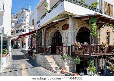 Famous traditiona crtetan bakery in Sfakia town on Crete