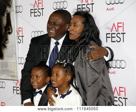 Dr. Bennet Omalu at the AFI FEST 2015 Centerpiece Gala Premiere Of Columbia Pictures'