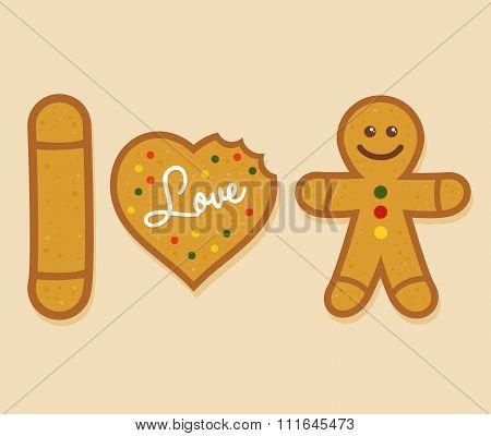 I Love Ginger Bread Man