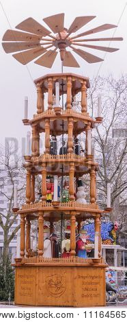 Pyramid of Berlin Christmas Market