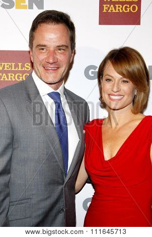 Tim Dekay and Elisa Dekay at the 8th Annual GLSEN Respect Awards held at the Beverly Hills Hotel in Los Angeles, United States on October 5, 2012.