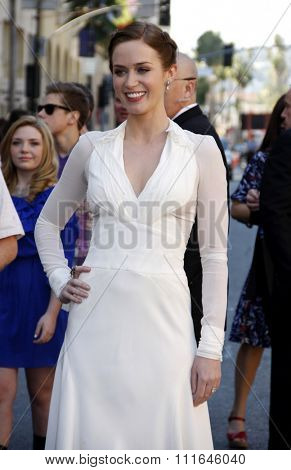 Emily Blunt at the Los Angeles Premiere of
