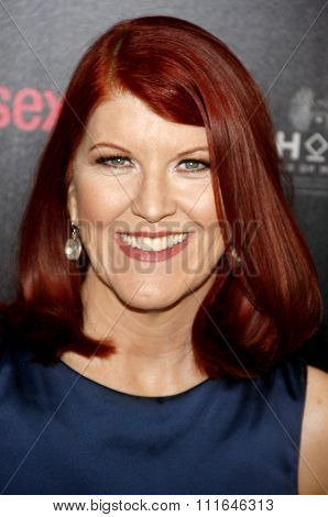 LOS ANGELES, CALIFORNIA - May 23, 2012. Kate Flannery at the 37th Annual Gracie Awards Gala held at the Beverly Hilton Hotel, Los Angeles.