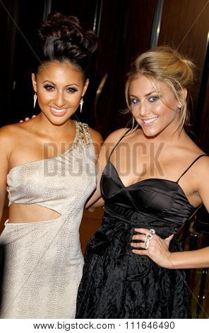 Francia Raisa and Cassie Scerbo at the 37th Annual Gracie Awards Gala held at the Beverly Hilton Hotel in Los Angeles, USA on may 23, 2012.
