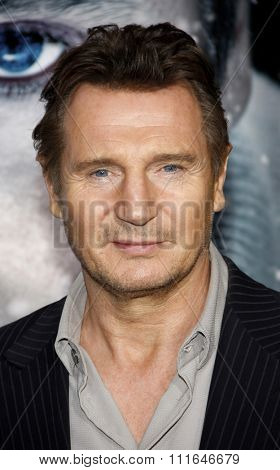 LOS ANGELES, CALIFORNIA - January 11, 2012. Liam Neeson at the Los Angeles premiere of
