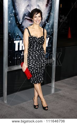 LOS ANGELES, CALIFORNIA - January 11, 2012. Wendy Moniz at the Los Angeles premiere of