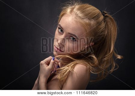 Girl With Freckles