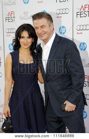 Alec Baldwin and Hilaria Thomas at the 2012 AFI Fest Gala Screening of