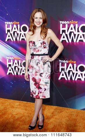 Haley Strode at the 2012 TeenNick HALO Awards held at the Hollywood Palladium in Los Angeles, California, USA on November 17, 2012.