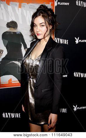 HOLLYWOOD, CALIFORNIA - January 5, 2012. Sasha Grey at the Los Angeles premiere of
