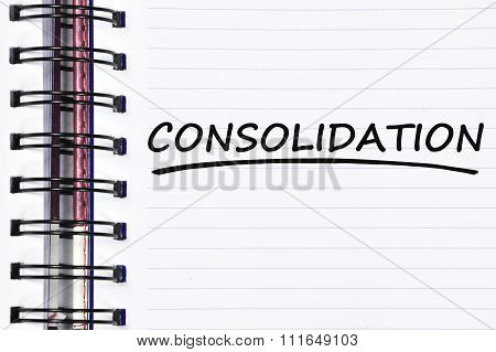 Consolidation Words On Spring Note Book