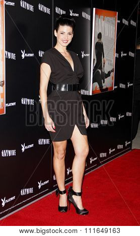 HOLLYWOOD, CALIFORNIA - January 5, 2012. Natascha Berg at the Los Angeles premiere of