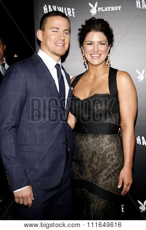 Channing Tatum and Gina Carano at the Los Angeles Premiere of