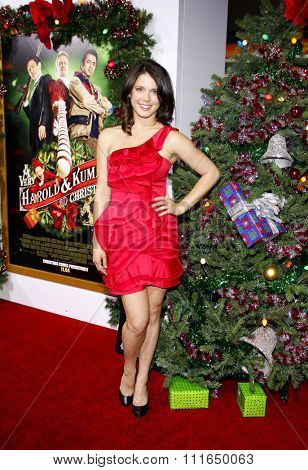 HOLLYWOOD, CALIFORNIA - November 2, 2011. Ali Cobrin at the Los Angeles premiere of