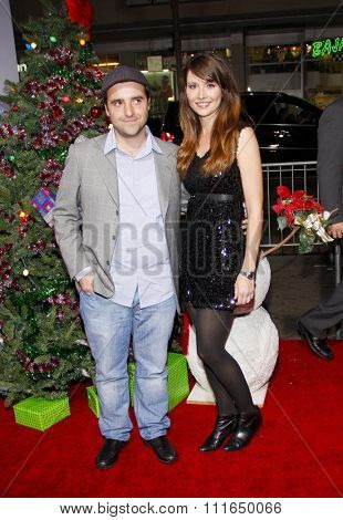 HOLLYWOOD, CALIFORNIA - November 2, 2011. David Krumholtz and Vanessa Britting at the Los Angeles premiere of