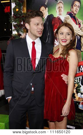 HOLLYWOOD, CALIFORNIA - November 2, 2011. Todd Strauss-Schulson and Jordan Hinson at the Los Angeles premiere of