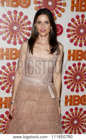 WEST HOLLYWOOD, CALIFORNIA - September 18, 2011. Amanda Peet at the HBO's 2011 Emmy After Party held at the Pacific Design Center, Los Angeles.
